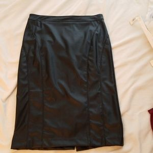 Dresses & Skirts - Faux leather midi skirt